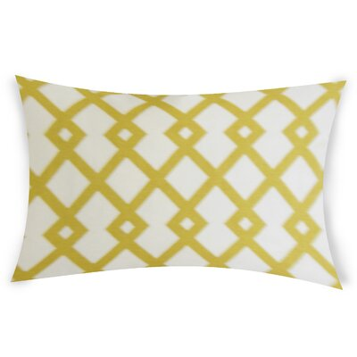 Escobar Cotton Lumbar Pillow Color: Yellow