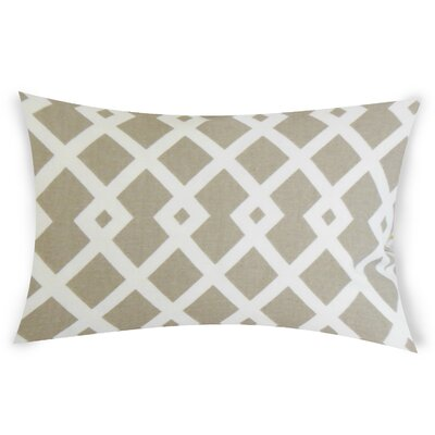 Escobar Cotton Lumbar Pillow Color: Beige