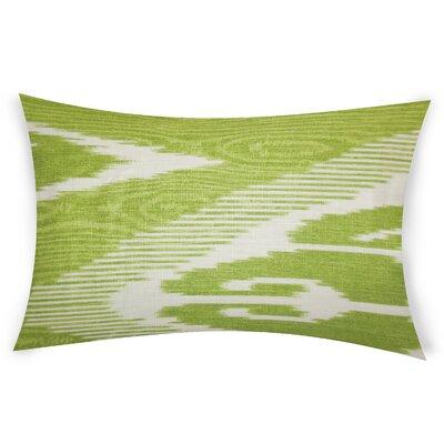 Glenoe Linen Lumbar Pillow Color: Green