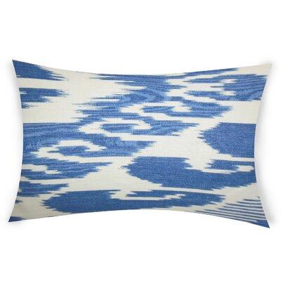 Glenoe Linen Lumbar Pillow Color: Blue
