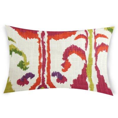 Glynn Cotton Lumbar Pillow Color: Pink
