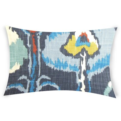 Glynn Cotton Lumbar Pillow Color: Blue