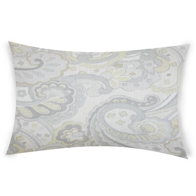 Eduardo Linen Lumbar Pillow Color: White