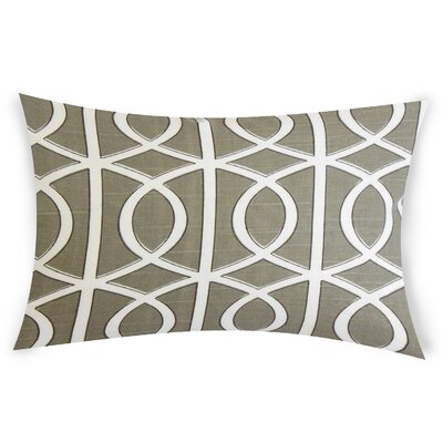 Esters Cotton Lumbar Pillow Color: Gray