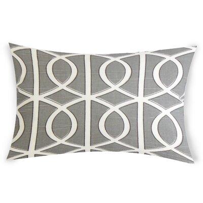 Esters Cotton Lumbar Pillow Color: Charcoal