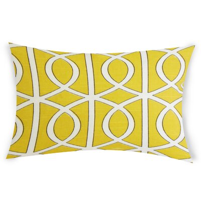 Esters Cotton Lumbar Pillow Color: Yellow