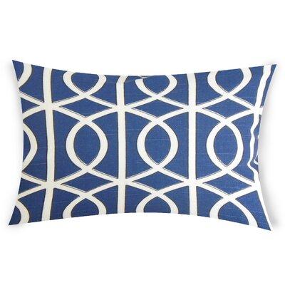 Esters Cotton Lumbar Pillow Color: Blue