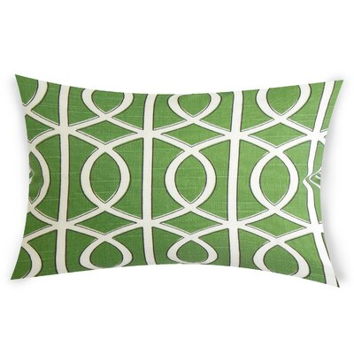 Esters Cotton Lumbar Pillow Color: Green