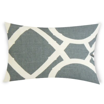 Odriscoll Cotton Lumbar Pillow Color: Gray