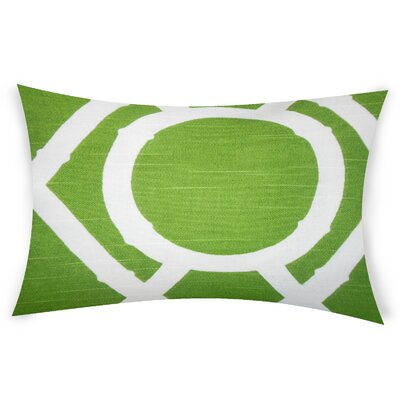 Odriscoll Cotton Lumbar Pillow Color: Green