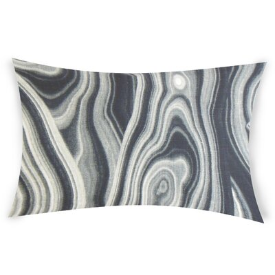 Harner Cotton Lumbar Pillow Color: Black