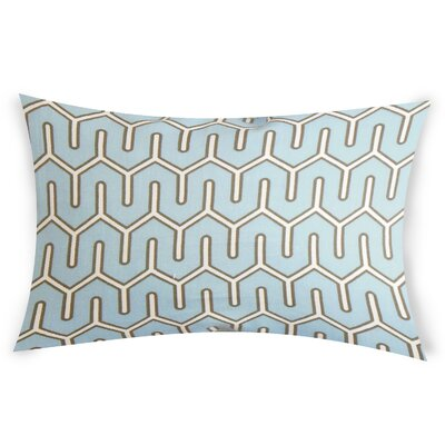 Oehler Cotton Throw Pillow Color: Blue