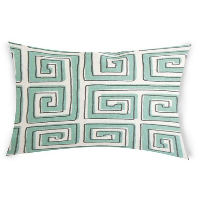 Neves Cotton Lumbar Pillow Color: Blue