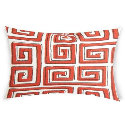 Neves Cotton Lumbar Pillow Color: Pink
