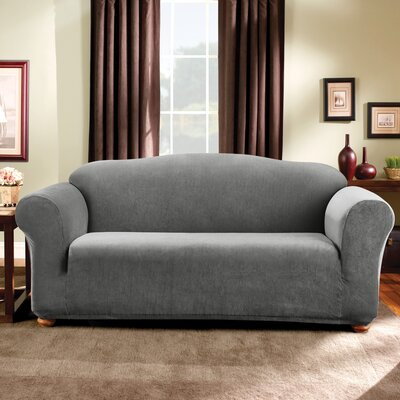 Stretch Madison Sofa Slipcover Upholstery: Gray