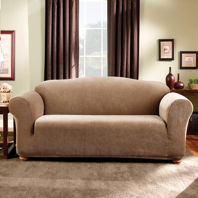Stretch Madison Sofa Slipcover Upholstery: Brown