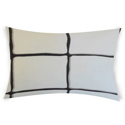 Combe Down Cotton Lumbar Pillow Color: Black
