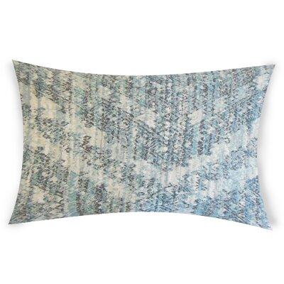 Nevitt Cotton Lumbar Pillow Color: Blue