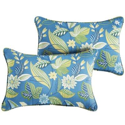 Whitmer Floral Indoor/Outdoor Lumbar Pillow Size: 13 x 20