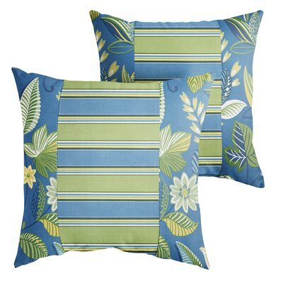 Rutland Floral Indoor/Outdoor Throw Pillow Size: 18 x 18