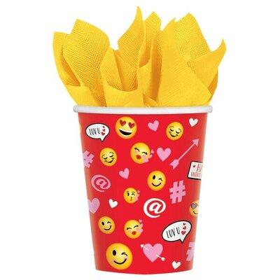 9 oz. Valentine's Day Emoji Paper Cup 731897