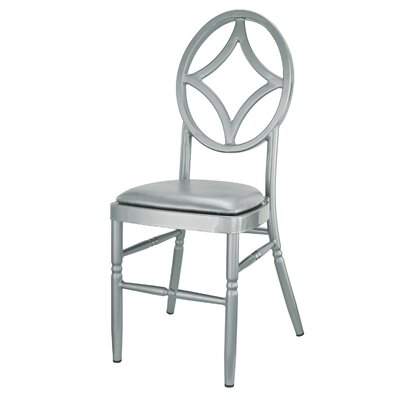 Kuntz Velika Series Stackable Diamond Aluminum Dining Chair Color: Silver