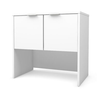 Prattsburgh 28.3 H x 30.1 W Desk Hutch Finish: White