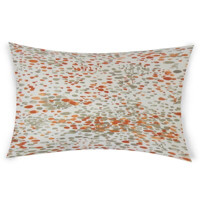 Okamoto Cotton Lumbar Pillow Color: Orange