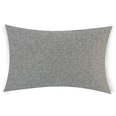 Dove Springs Wool Lumbar Pillow Color: Dark Gray