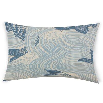 Hayek Cotton Lumbar Pillow Color: Blue