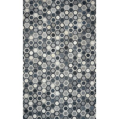 One-of-a-Kind Houchins Hand-Woven Cowhide Gray Area Rug Rug Size: Rectangle 8 x 10