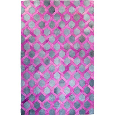 One-of-a-Kind Houghton Hand-Woven Cowhide Pink Area Rug Rug Size: Rectangle 8 x 10