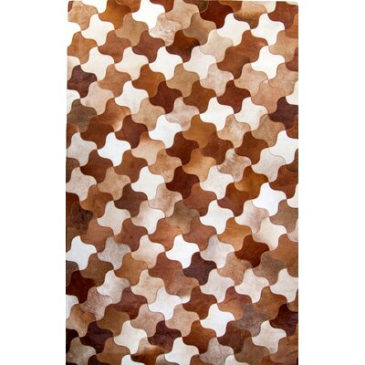 One-of-a-Kind Columban Hand-Woven Cowhide Brown Area Rug Rug Size: Rectangle 9 x 12