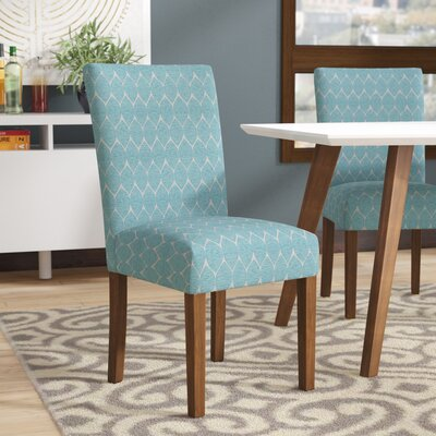 Haverstraw Textured Parsons Upholstered Dining Chair Upholstery: Teal