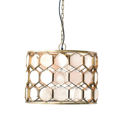 Krohn 3-Light Drum Pendant