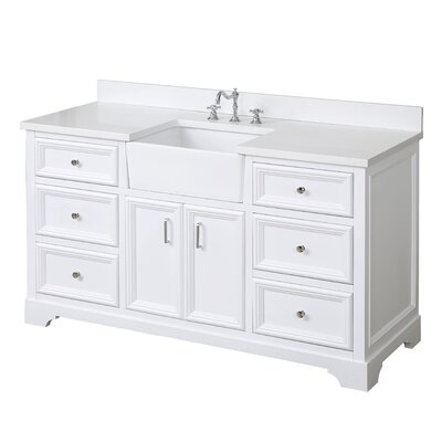 Zelda 60 Single Bathroom Vanity Set Base Finish: White