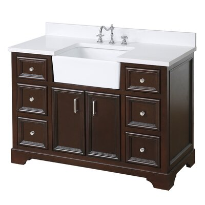 Zelda 48 Single Bathroom Vanity Set Base Finish: Chocolate