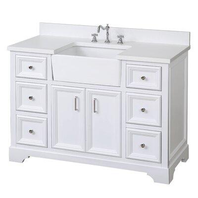 Zelda 48 Single Bathroom Vanity Set Base Finish: White