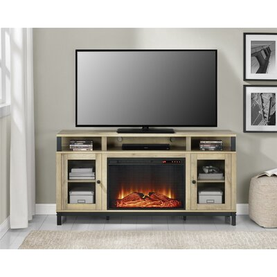 Mastrangelo 60 TV Stand with Fireplace