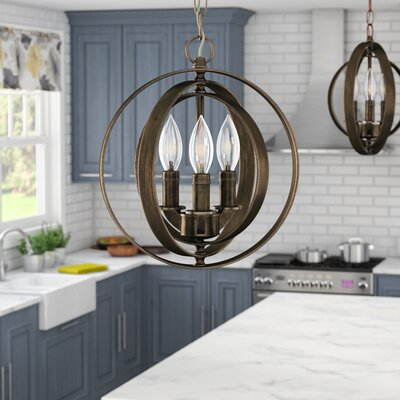 Castello 3-Light Pendant Finish: Antique Bronze
