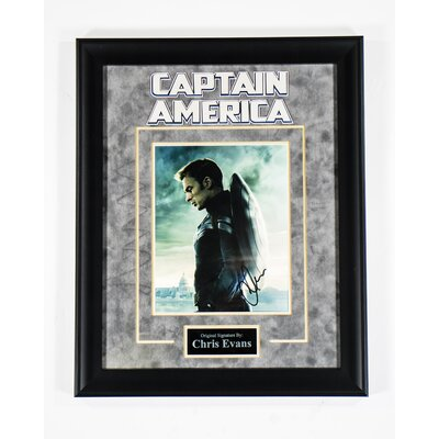 Captain America Custom Framed Autographed  Photograph S-CPTAM