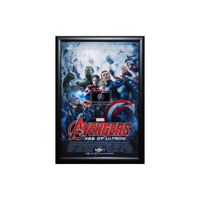 "Avengers   Age of Ultron "" Autographed Movie Poster Framed Wall Art ULTRON"