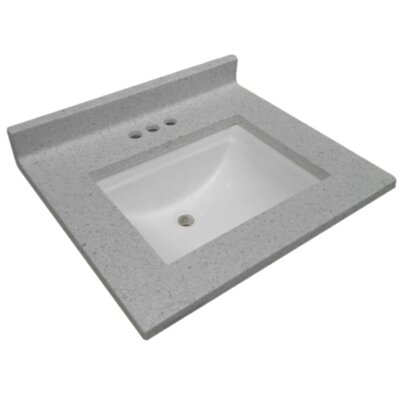 Cultured Wave Bowl 49 Single Bathroom Vanity Top