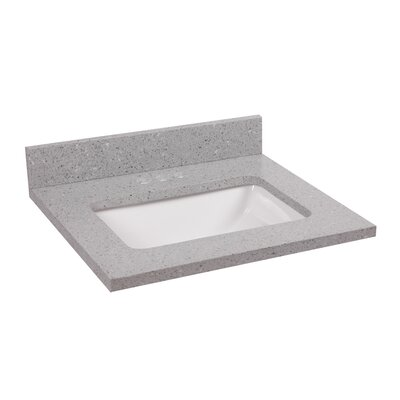Quartz Bowl 22 Single Bathroom Vanity Top Top Finish: Flint
