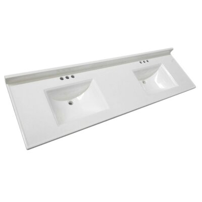 Camilla Bowl 73 Double Bathroom Vanity Top