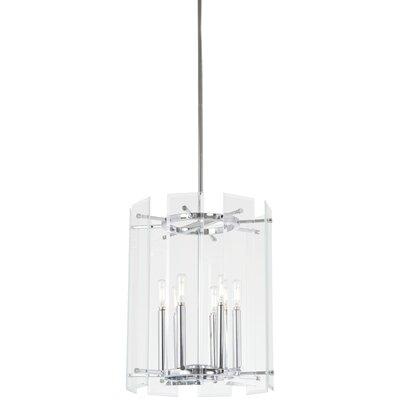 Oritz 6-Light Drum Pendant Size: 18 H x 14.25 W x 14.25 D
