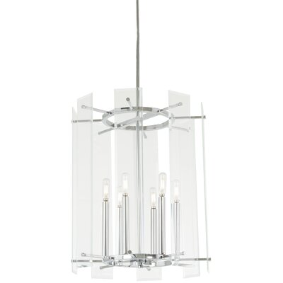 Oritz 6-Light Drum Pendant Size: 22 H x 18 W x 18 D