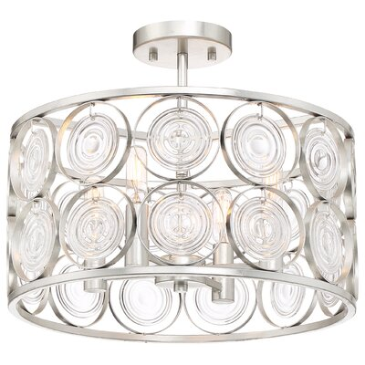 Ladwig 4-Light Semi Flush Mount