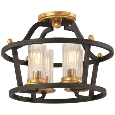 Helmer 4-Light Semi Flush Mount
