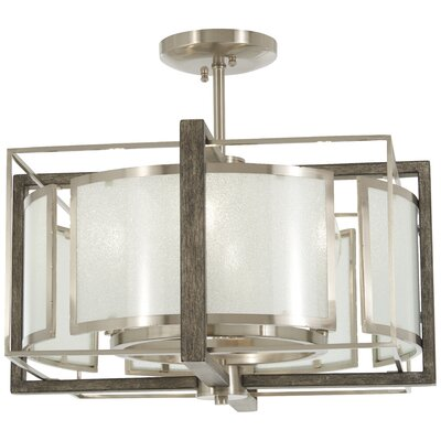 Zaleski 4-Light Semi Flush Mount
